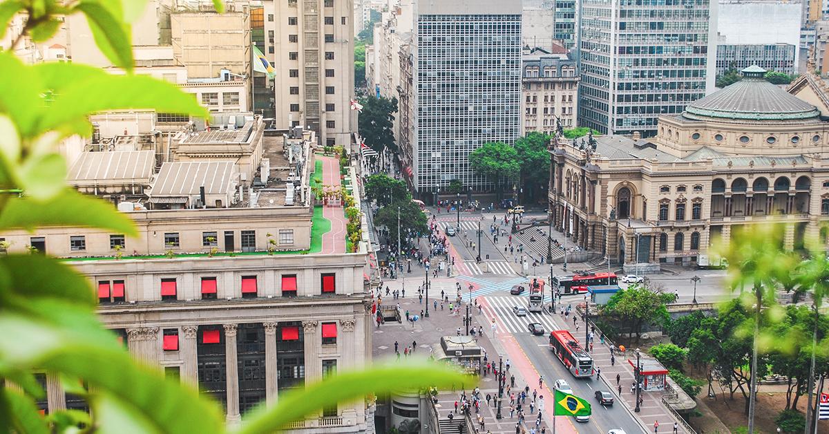 Vista do Centro de São Paulo - Teatro Municipal